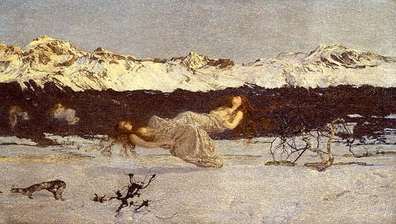 "Giovanni Segantini, ""Punishment of luxury"", 1891"